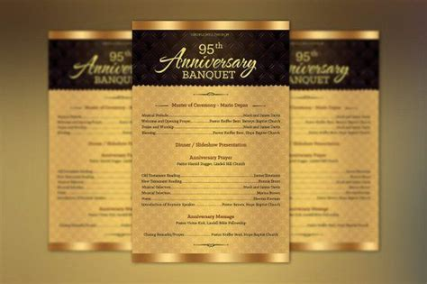 church anniversary  sheet program publisher template