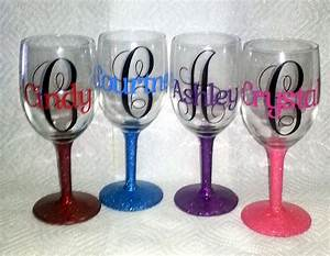 Personalized wine glasses youtube for Glasses with letters on them