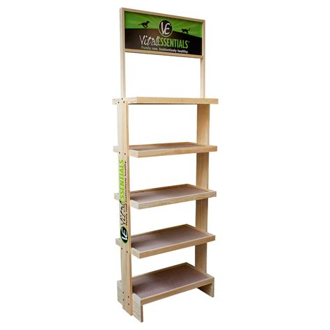 Display Racks by Customized Wood Display Rack With Wheels Branded Pop