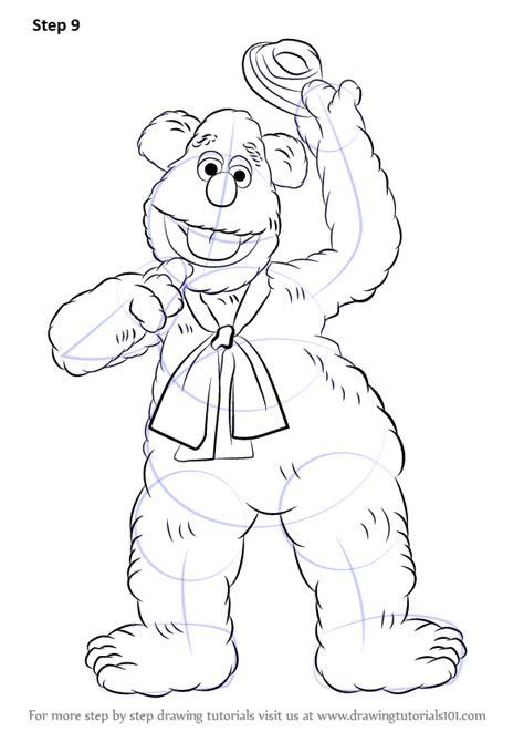 step  step   draw fozzie bear   muppet show