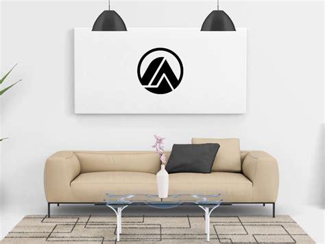 Free Living Room Painting Wall Canvas Mockup Psd  Free Mockup