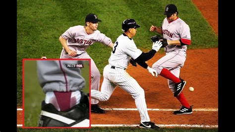 The BLOODY SOCK Game   2004 ALCS Game 6 Highlights ...