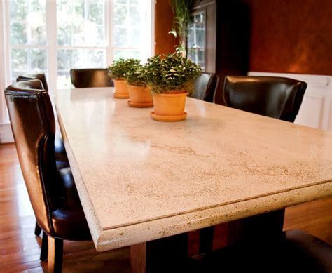 concrete dining room table traditional dining tables