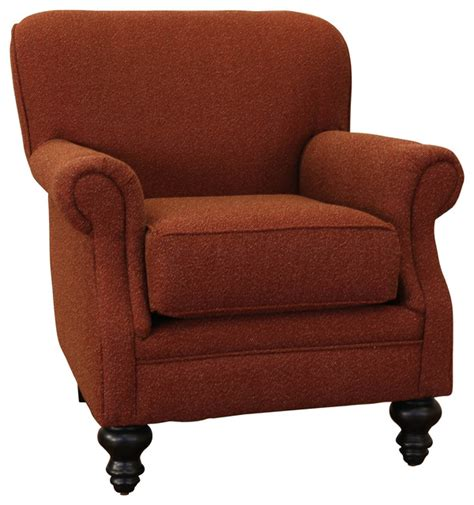 charles fabric rolled arm accent club chair