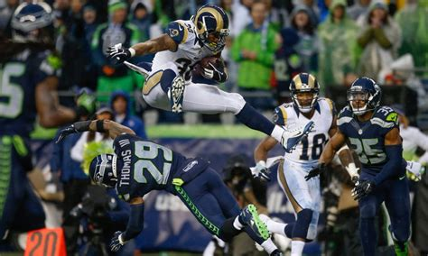 rams  seahawks kickoff time tv announcers