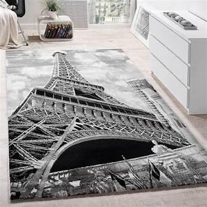 tapis de createur motif paris tour eiffel tapis moderne With tapis a paris