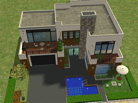 maison moderne sims 3 maison moderne de luxe sims 3 chaios
