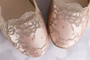 chagne colored wedding shoes blush wedding shoes bridal flats with a chagne lace