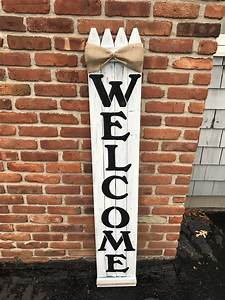 Rustic, Wood, Welcome, Sign, Vertical, Wooden, Welcome, Sign, 5ft