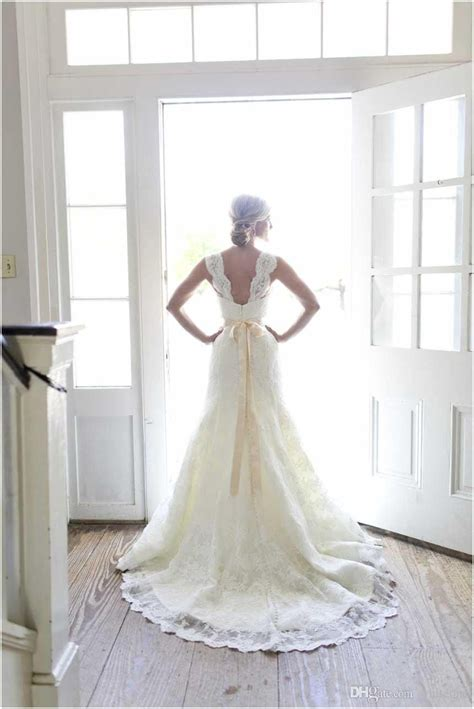 discount  full   lace wedding dresses ivory
