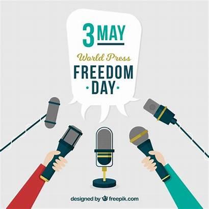 Press Freedom Background Vector Vectors Journalist Microphones