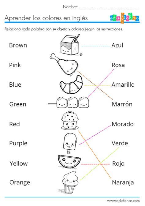 Aprender Los Colores En Inglés Coloreando Ficha Educativa