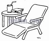 Chair Drawing Lawn Garden Table Drawings Timtim Lounge Bw Building Coloring Category Getdrawings Tools Tool sketch template