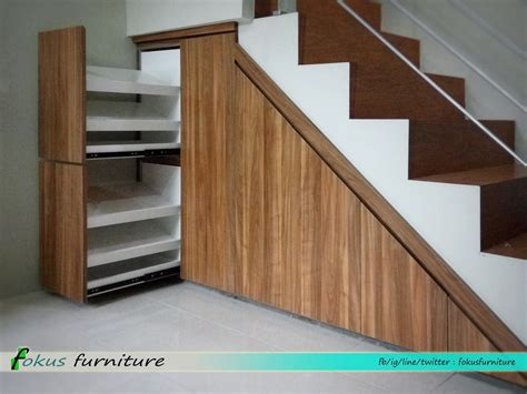 lemari bawah tangga dan rak sepatu fokusfurniture kitchen lemari custom furniture di