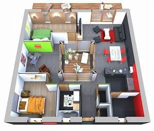 Plan Maison 90m2 3d