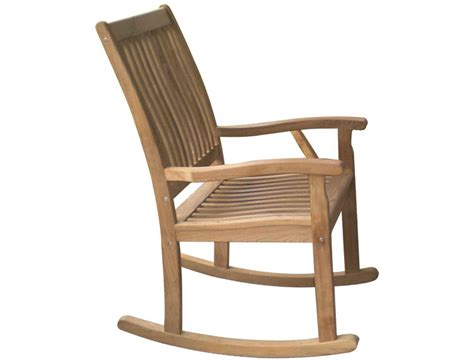 royal teak collection highback rocking lounge chair rkc
