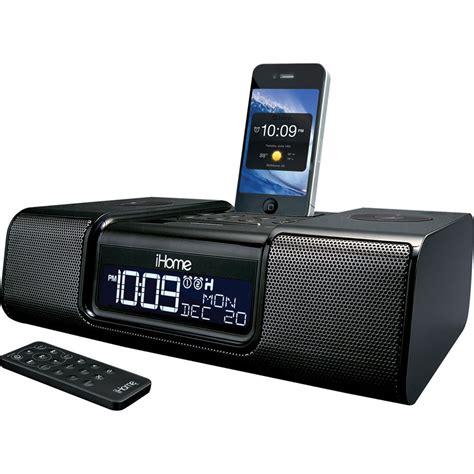 iphone clock radio ihome ia9 app enhanced dual alarm clock radio ia9bzc b h photo