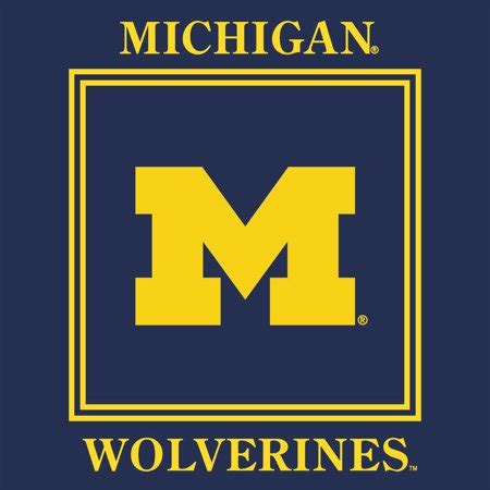 michigan wolverines colors michigan wolverines lucheon napkin 16 pack team color