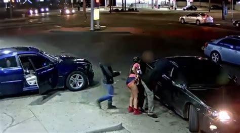 underwear gun drawn  detroit gas station shooting