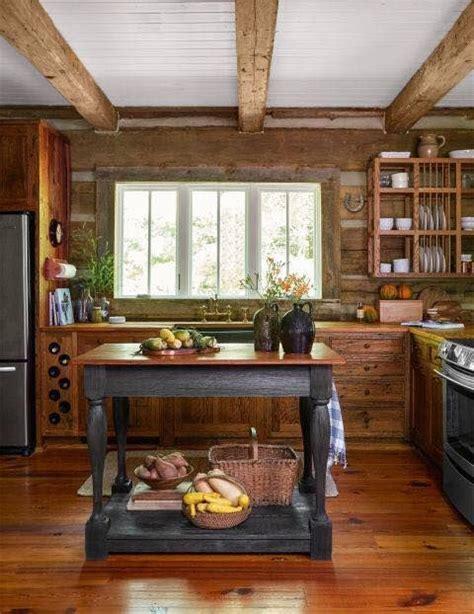 sweet rustic cabin kitchen    lot  modern touches   beautiful rustic cabin