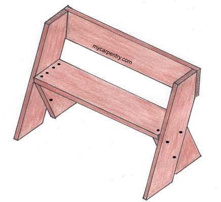 easy bench plans build   outdoor bench