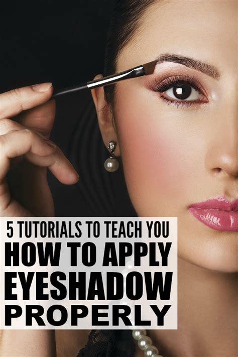 tutorials  teach    apply eyeshadow properly