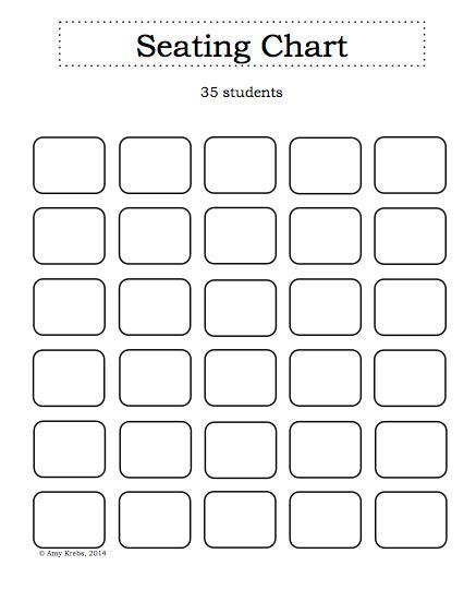 blank classroom seating chart seating chart classroom