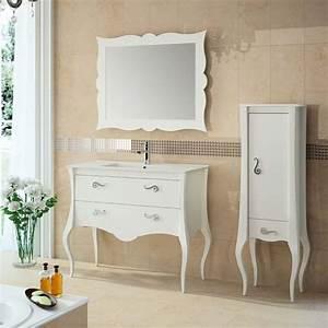 Meuble Vasque 100 Cm : meuble salle de bain 80 100 cm blanc 2 portes 1 tiroir ~ Edinachiropracticcenter.com Idées de Décoration