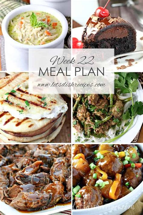 let s dish easy meal plan weekly meal plans featuring