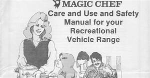 1983 Fleetwood Pace Arrow Owners Manuals  Magic Chef Rv Stove Manual