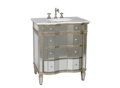 mirrored bathroom vanity cabinet horchow mirrored vanity with sink look 4 less