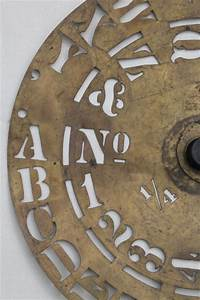 antique brass lettering numbering clock wheel stencil With antique letter stencils
