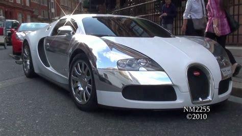 And White Bugatti by Chrome White Bugatti Veyron Sound Start And Revs