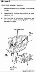 1999 Honda Civic Stock Radio Removal