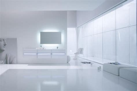 white bathroom vanities with fluorescent light fixtures by