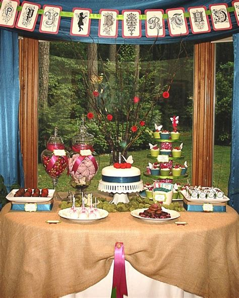 an garden birthday celebrations at home