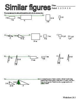 proportions similar figures worksheet worksheets and math