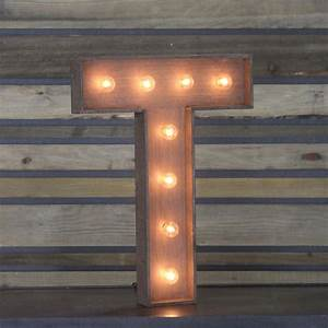 edison marquee letter quottquot town country event rentals With letter t light