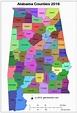 Map of Alabama Counties
