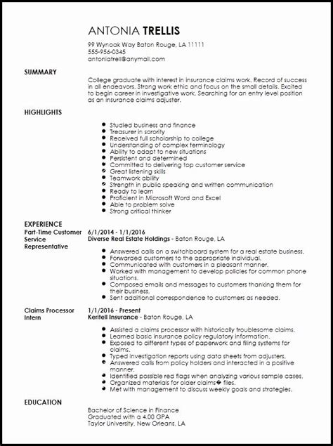 Insurance brokers liaise between insurance companies and their clients. Entry Level Insurance Resume Examples - INSURANCE DAY