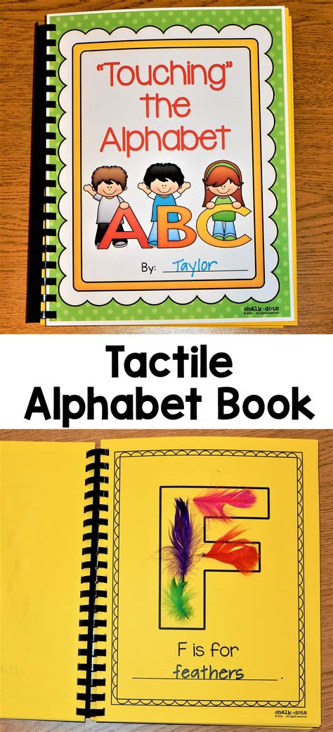 alphabet book tactile tpt language arts lessons