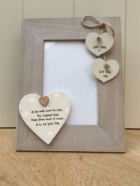 shabby chic gifts uk shabby personalised chic photo frame wedding gift for bride from bridesmaid