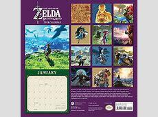 Legend of Zelda Breadth of the Wild 2019 Wall Calendar