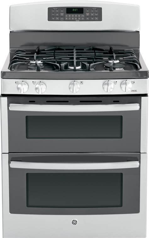 jgbsefss ge   standing gas double oven range  convection stainless steel
