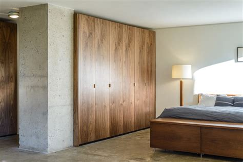 walnut ikea closet contemporary bedroom  york