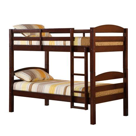 we furniture espresso twin solid wood bunk bed walmart ca