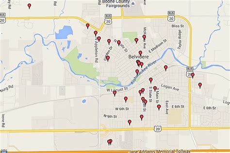 map of where offenders can where not to trick or treat in rockford offender maps