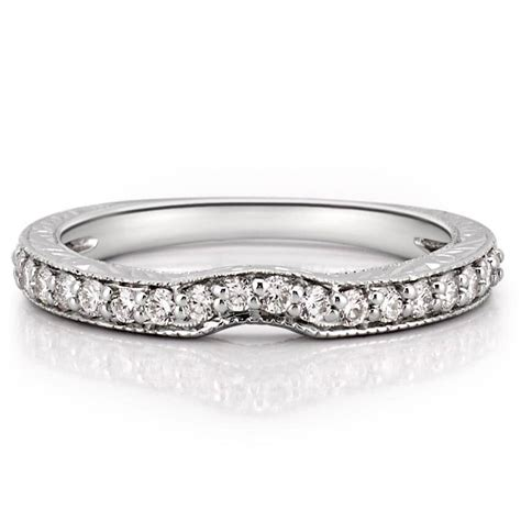 Engraved Wedding Band With Curve  Katherine Band  Do Amore