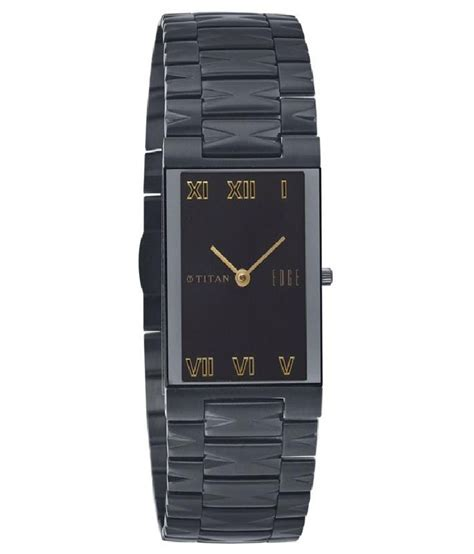 titan black analog titan edge party wedding watch 1296nm01