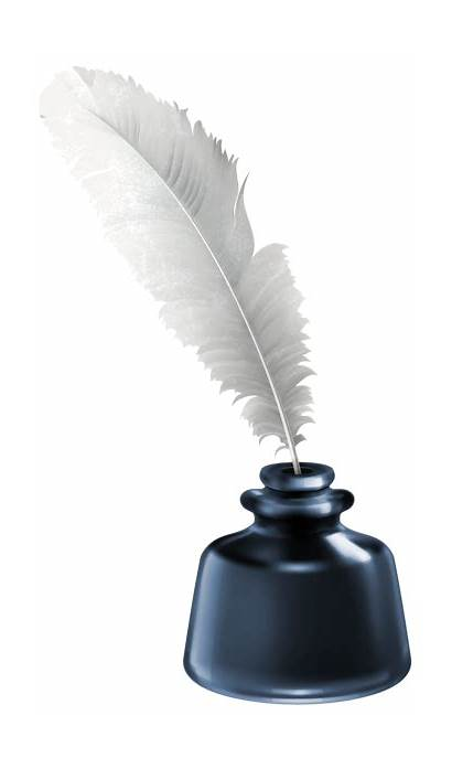 Ink Quill Pot Clipart Transparent Clip Feather